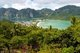 Thailand: The tombolo (twin bays) from the Viewpoint on Ko Phi Phi Don, Ko Phi Phi